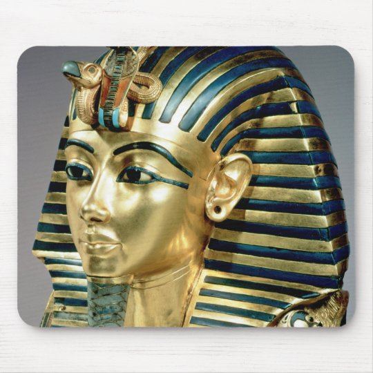 The gold funerary mask, from tomb of Tutankhamun Mouse Pad