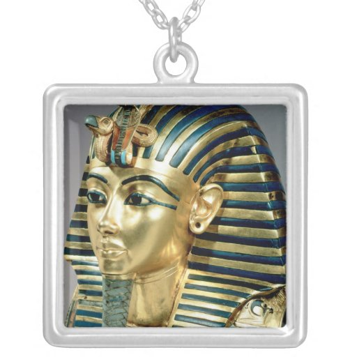 The gold funerary mask, from tomb of Tutankhamun Necklace