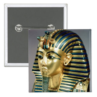 The gold funerary mask, from tomb of Tutankhamun Pinback Button