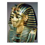 The gold funerary mask, from tomb of Tutankhamun Postcard