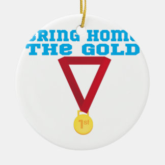 The Gold Double-Sided Ceramic Round Christmas Ornament