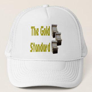 The gold standard arcade trucker hat