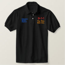 The Gold Thin Line 911 Embroidered Polo Shirt