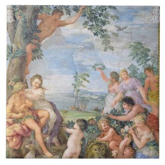 The Golden Age (fresco) Ceramic Tile