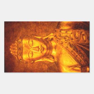 The Golden Buddha Rectangular Sticker