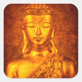The Golden Buddha Square Sticker