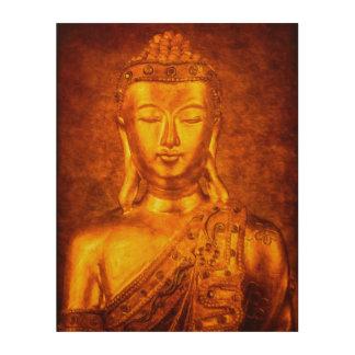The Golden Buddha Wood Print