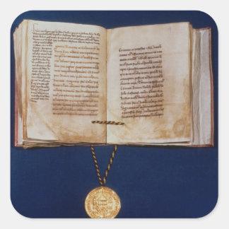 The Golden Bull of Charles IV Square Sticker