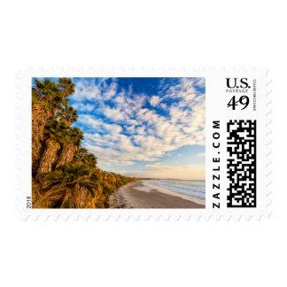 The golden California coastline Postage
