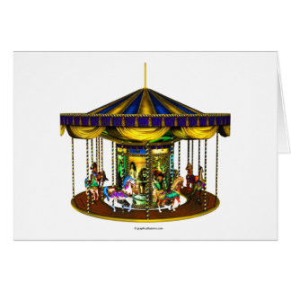 The Golden Carousel Greeting Card