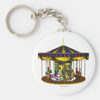 The Golden Carousel Keychain