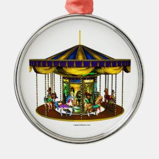 The Golden Carousel Metal Ornament