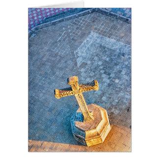 The Golden Cross of Granada Card