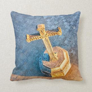 The Golden Cross of Granada Throw Pillow