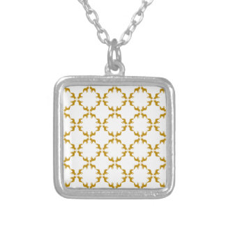 The Golden Dog Square Pendant Necklace