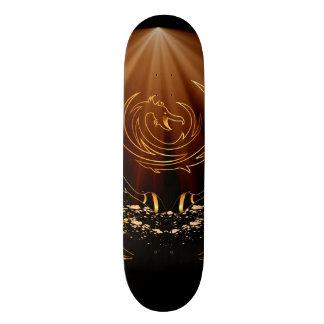 The golden dragon sign skateboard