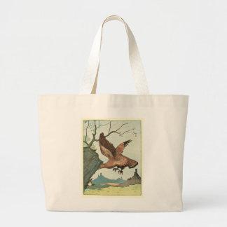 The Golden Eagle Story Book Illustration Jumbo Tote Bag