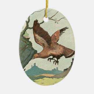 The Golden Eagle Story Book Illustration Ceramic Ornament