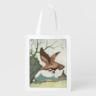 The Golden Eagle Story Book Illustration Grocery Bags