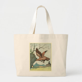 The Golden Eagle Story Book Illustration Large Tote Bag