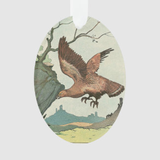 The Golden Eagle Story Book Illustration Ornament