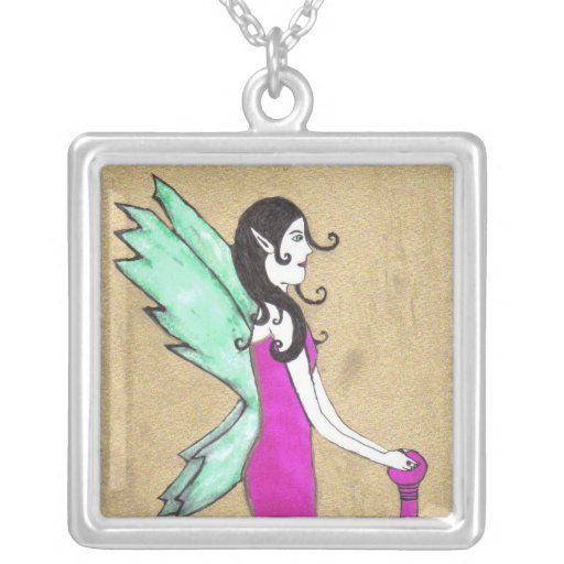 The Golden Fairy Silver Plated Necklace