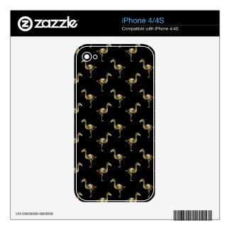 The Golden Flamingo iPhone 4S Decals