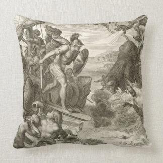 The Golden Fleece Won by Jason (engraving) Throw Pillow