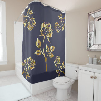 The golden flowers 2 shower curtain