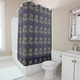 The golden flowers shower curtain