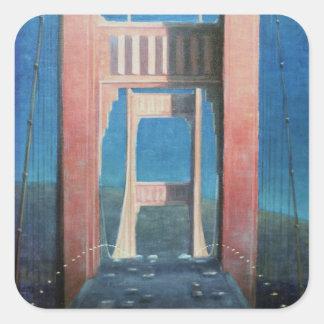 The Golden Gate Bridge 1992 Square Sticker