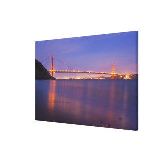 The Golden Gate Bridge at dusk from Kirby Cove Canvas Print