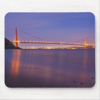 The Golden Gate Bridge at dusk from Kirby Cove Mouse Pad