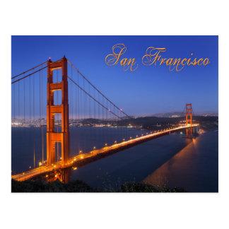 The Golden Gate Bridge at dusk Postcard