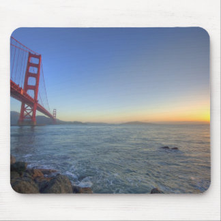 The Golden Gate Bridge at sunrise from Fort Mouse Pad