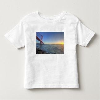 The Golden Gate Bridge at sunrise from Fort Toddler T-shirt