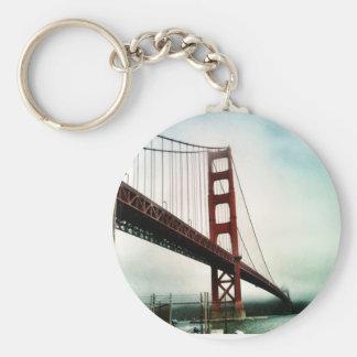 The Golden Gate Bridge Basic Round Button Keychain