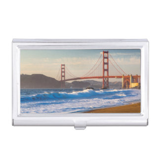 The Golden Gate Bridge From Baker Beach Business Card Holder