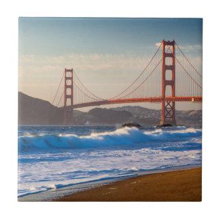 The Golden Gate Bridge From Baker Beach Ceramic Tile