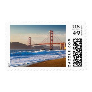 The Golden Gate Bridge From Baker Beach Postage Stamp