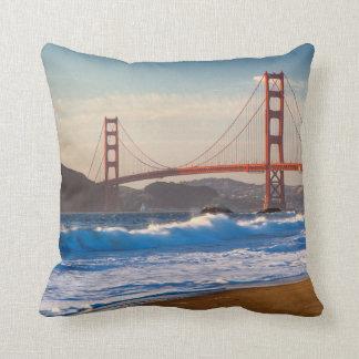 The Golden Gate Bridge From Baker Beach Throw Pillow