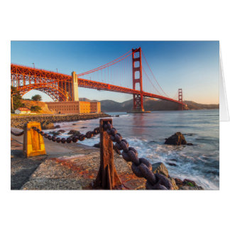 The Golden Gate Bridge From Fort Point Card