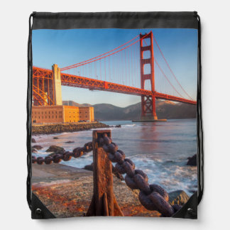 The Golden Gate Bridge From Fort Point Drawstring Backpack