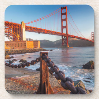 The Golden Gate Bridge From Fort Point Drink Coaster