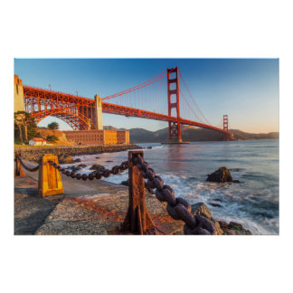 The Golden Gate Bridge From Fort Point Poster
