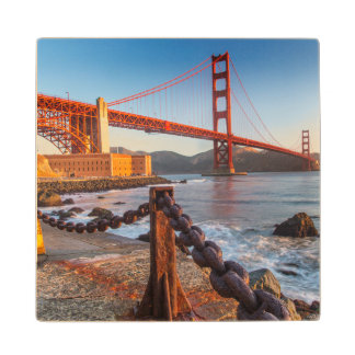 The Golden Gate Bridge From Fort Point Wood Coaster