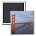 The Golden Gate Bridge from the Marin 2 Inch Square Magnet