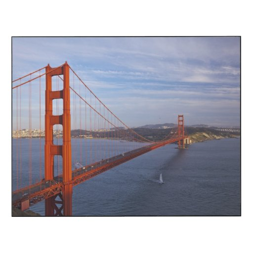 the golden gate bridge from the marin wood wall art zazzle. Black Bedroom Furniture Sets. Home Design Ideas