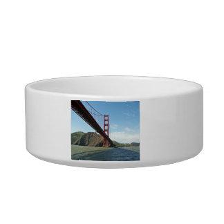 The Golden Gate bridge Cat Water Bowls