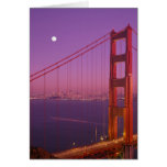 The Golden Gate Bridge shortly after sunset, Greeting Card